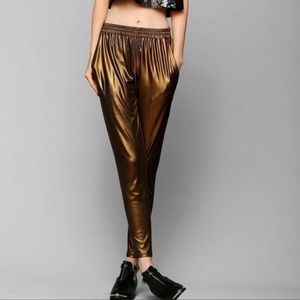 Lucca Couture bronze polyester pants
